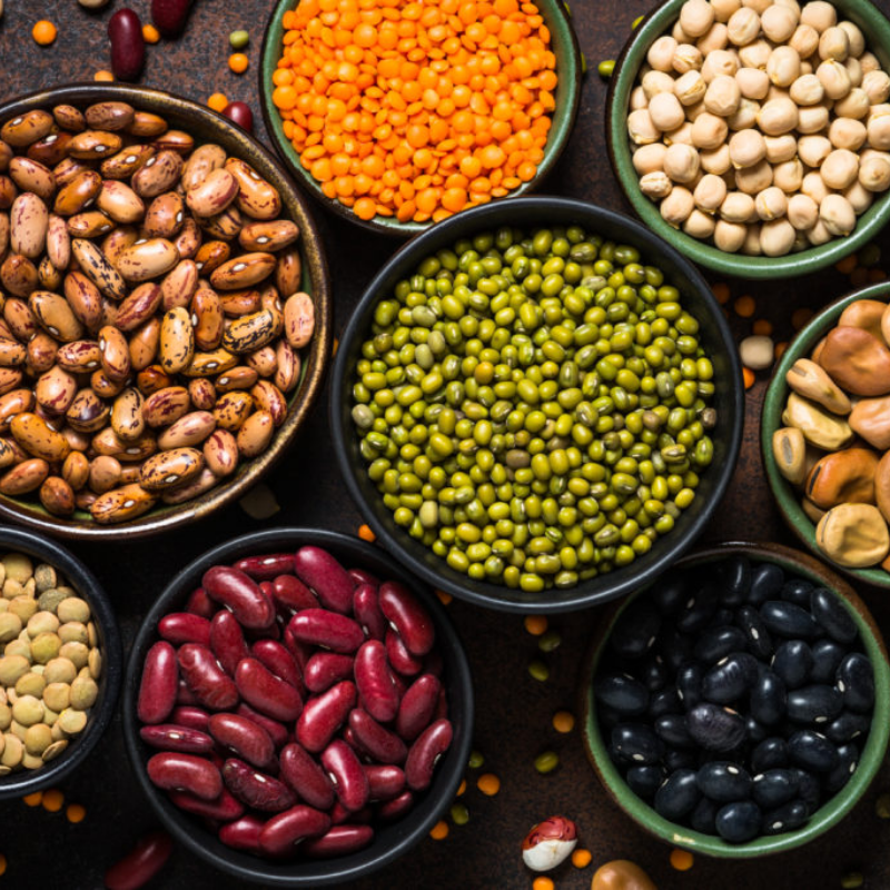 Legumes and beans.